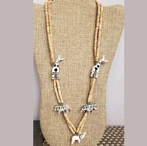 🆕️🌍🦓GENUINE Handmade safari necklace AFRICA